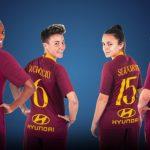 La squadra femminile dell'AS Roma sponsorizzata Hyundai
