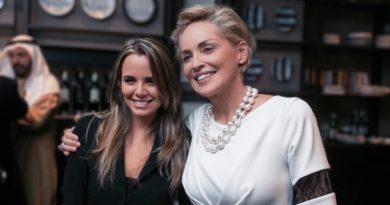 Denise Faro e Sharon Stone