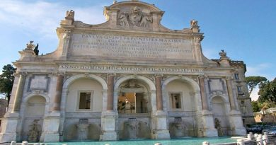 Roma Fontana Acqua Paola