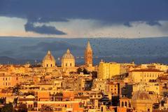 roma tramonto verso santa maria maggiore
