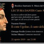 Lenola. XII Lectura Dantis alla Basilica del Colle