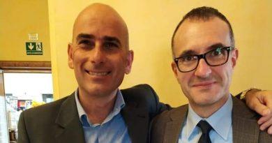 Da sinistra, il presidente di Superabile Viterbo Aps Alfredo Boldorini e il presidente del Lions Club Tarquinia Paolo Pirani