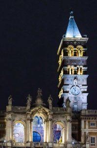 Impianto di illuminazione artistica della Basilica di Santa Maria Maggiore