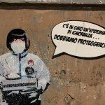 Coronavirus: a Roma c'è un'epidemia di ignoranza, l'ultima opera della Street Artist Laika
