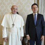 Papa Francesco ha incontrato il presidente del Consiglio Giuseppe Conte