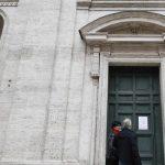 San Luigi dei Francesi a Roma chiusa per coronavirus
