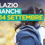 Nel Lazio sui banchi di scuola dal 14 settembre