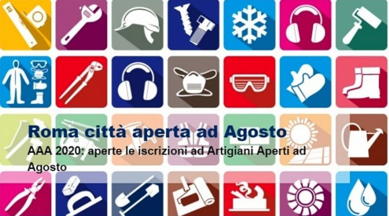artigiani aperti agosto 2020 Roma