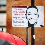 In via Guglielmo Pepe un giardino è dedicato a Willy Monteiro Duarte