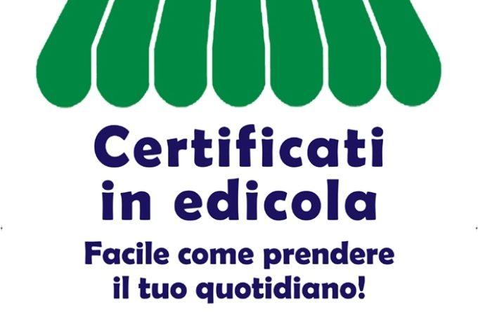certificati in edicola