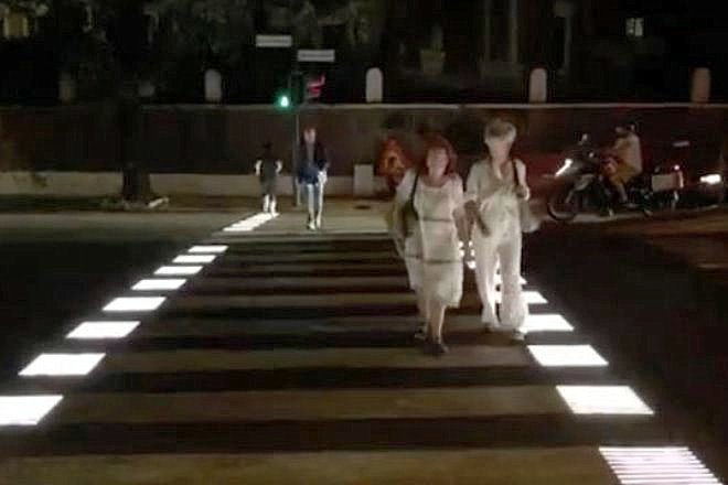 attraversamento pedonale led