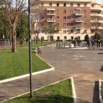 Riapre giardino Umberto Improta, vicino futura stazione metro C Amba Aradam