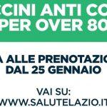 Campagna vaccinazione anticovid per gli over80 nel Lazio: ecco come prenotarsi
