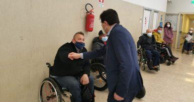 vaccinazione presso il Centro Paraplegici di Ostia